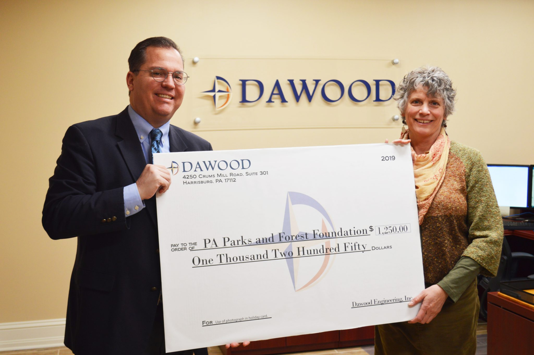 Dawood Donates to the PA Parks & Forests Foundation