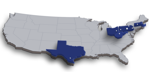 map with locations and states worked 4-8-2016